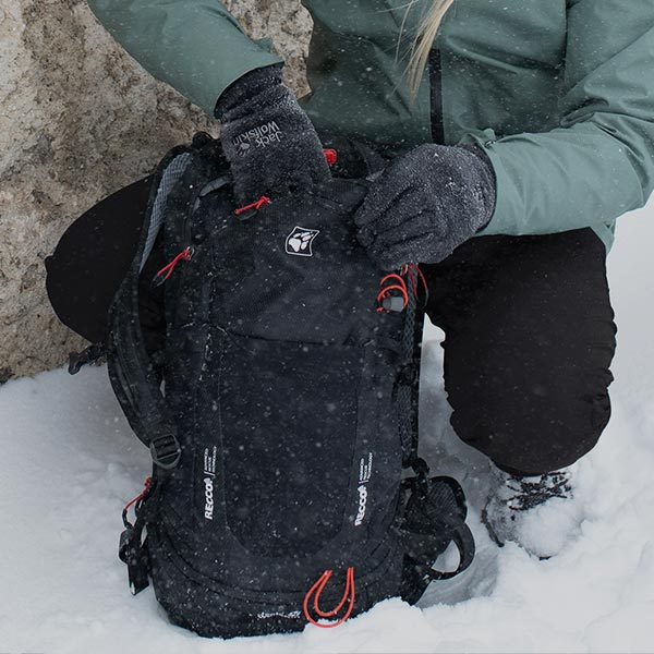 RECCO® pack in the snow