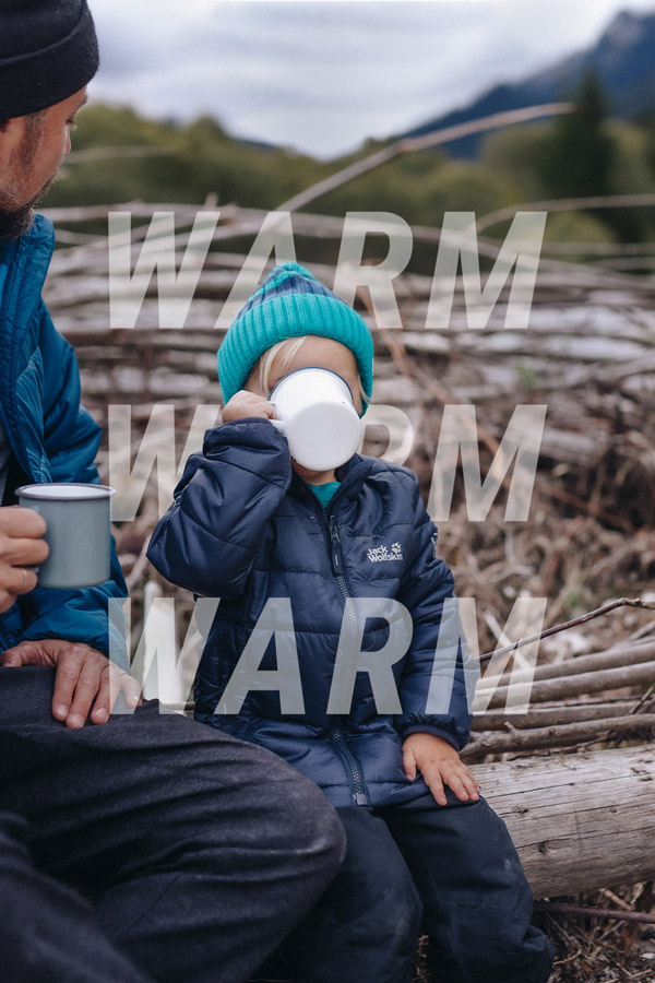 Child drinks warm drink