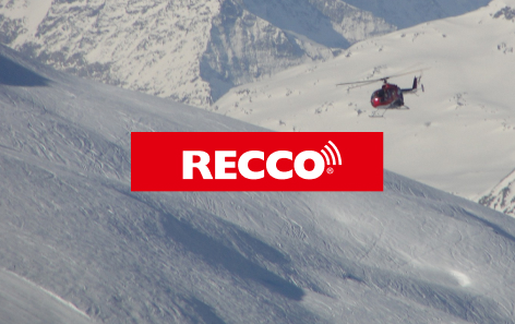 Snow landscape and helicopter